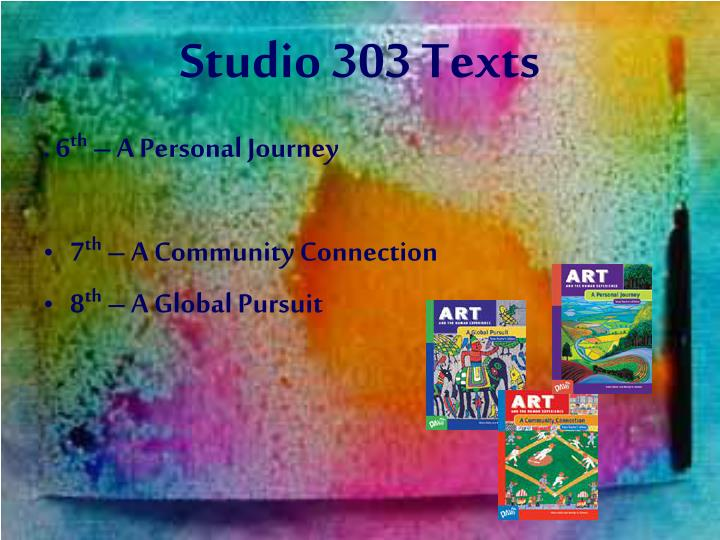 Studio 303 Texts