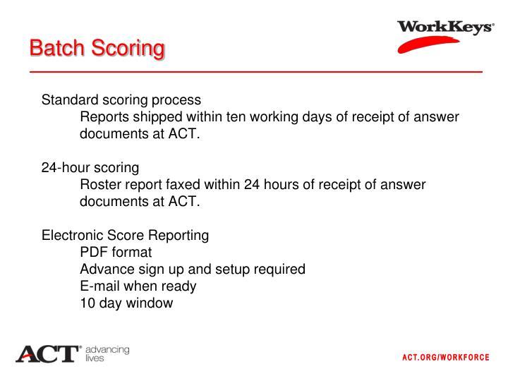 Batch Scoring
