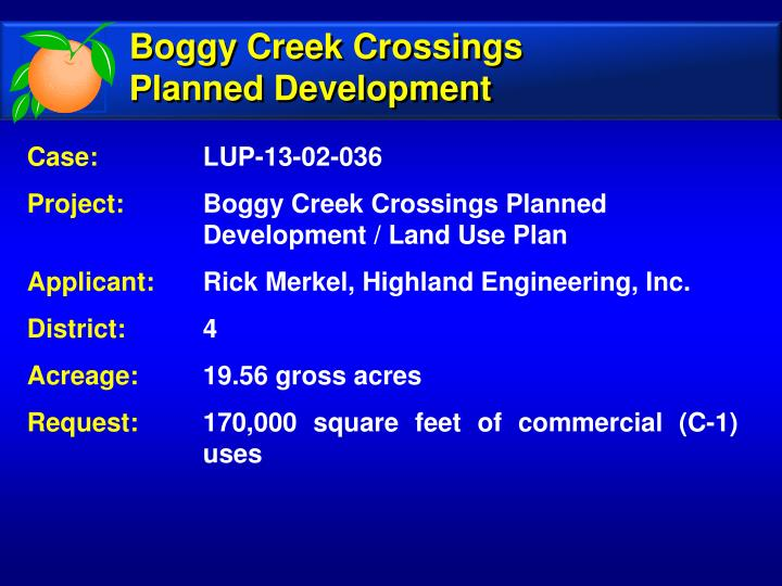Boggy Creek Crossings