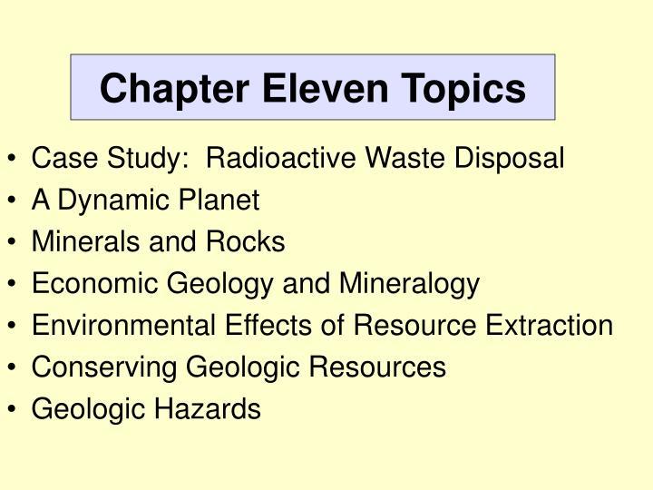 Chapter Eleven Topics