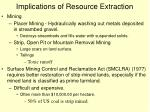 implications of resource extraction