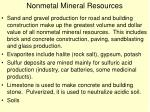 nonmetal mineral resources
