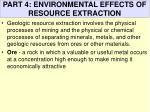 part 4 environmental effects of resource extraction