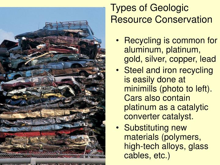 Types of Geologic Resource Conservation
