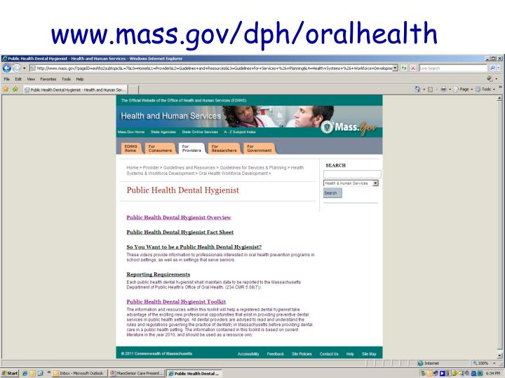 www.mass.gov/dph/oralhealth