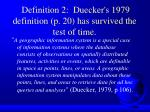 definition 2 duecker s 1979 definition p 20 has survived the test of time