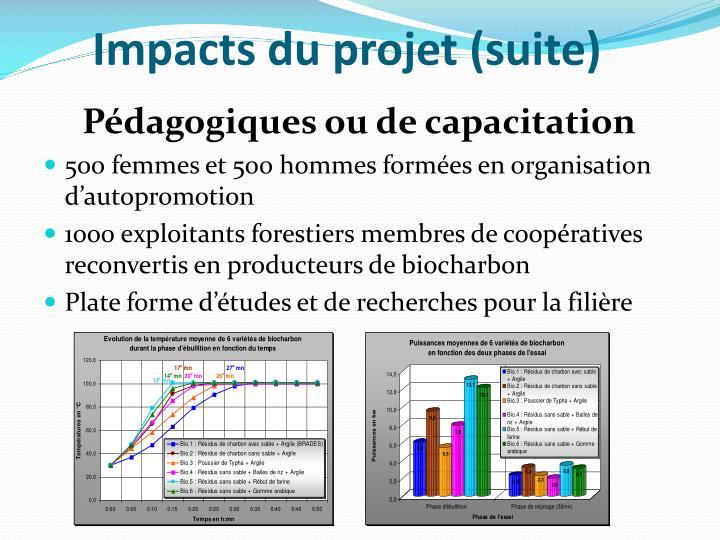 Impacts du projet (suite)