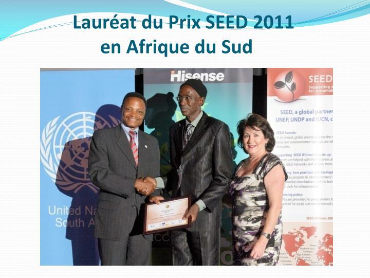 Lauréat du Prix SEED 2011