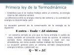primera ley de la termodin mica
