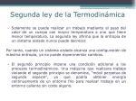 segunda ley de la termodin mica