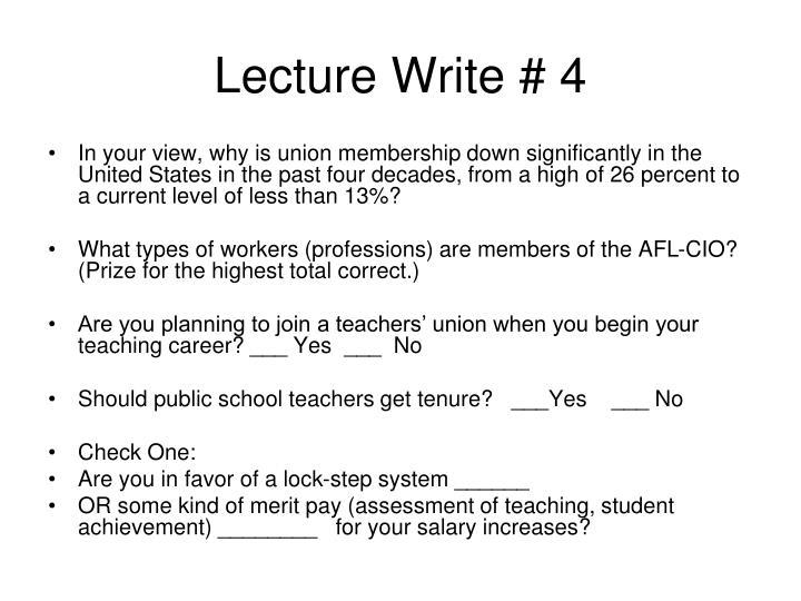 Lecture Write # 4