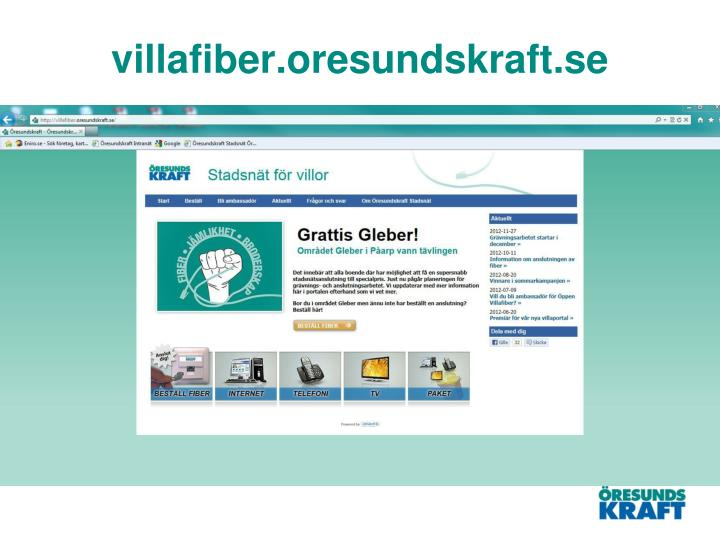 villafiber.oresundskraft.se