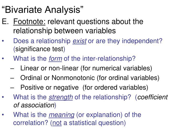 """Bivariate Analysis"""