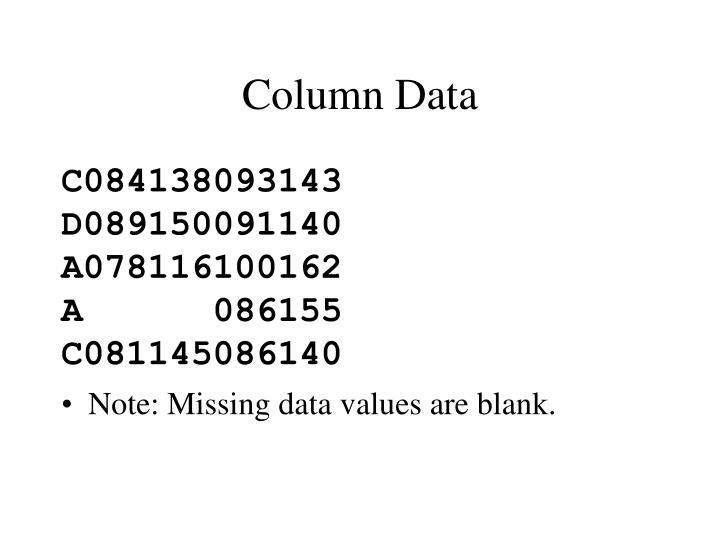 Column Data
