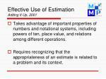 effective use of estimation adding it up 2001