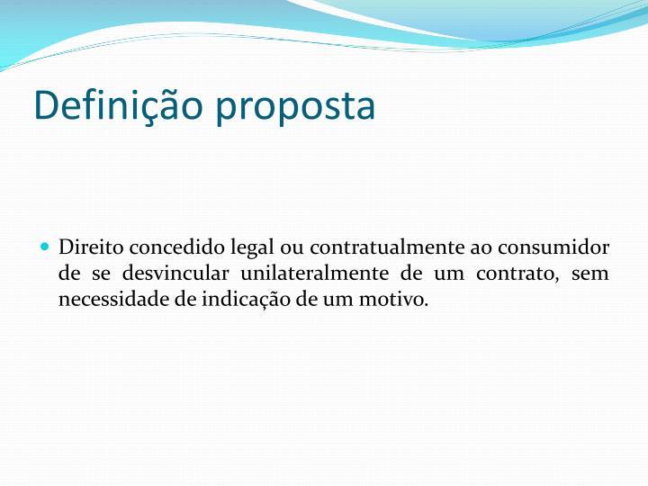 Definição proposta