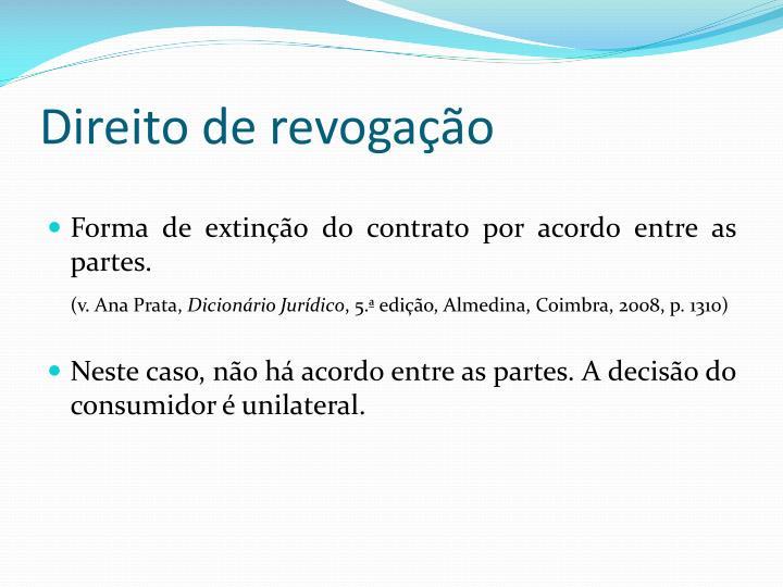 Direito de revogação