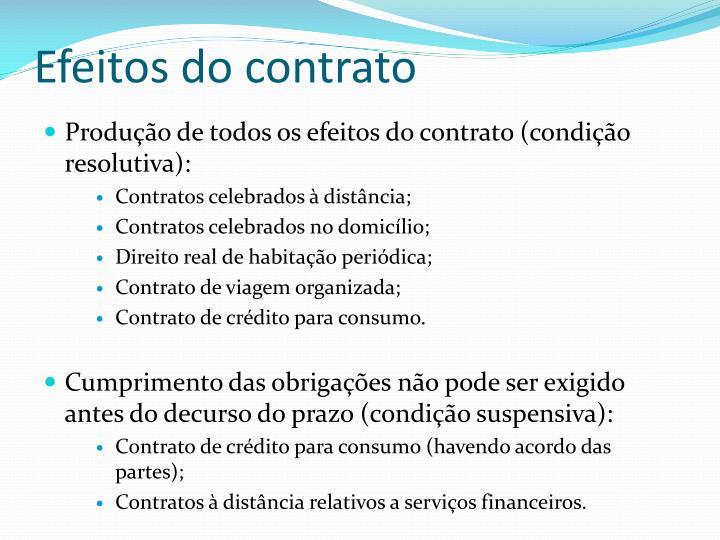 Efeitos do contrato
