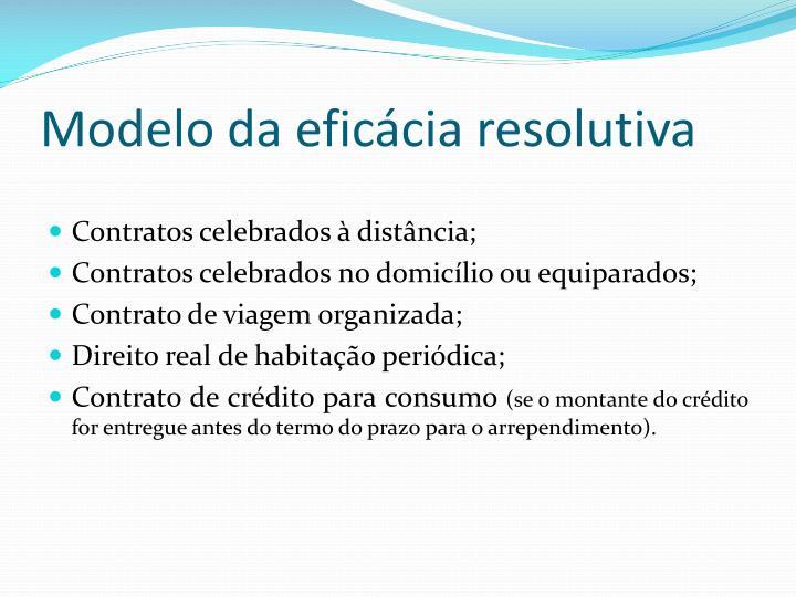 Modelo da eficácia resolutiva