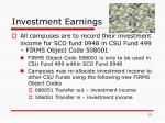 investment earnings
