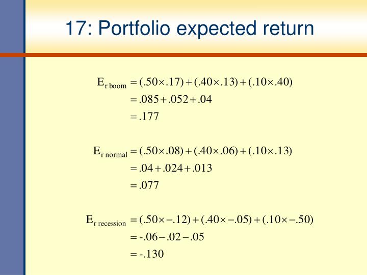 17: Portfolio expected return