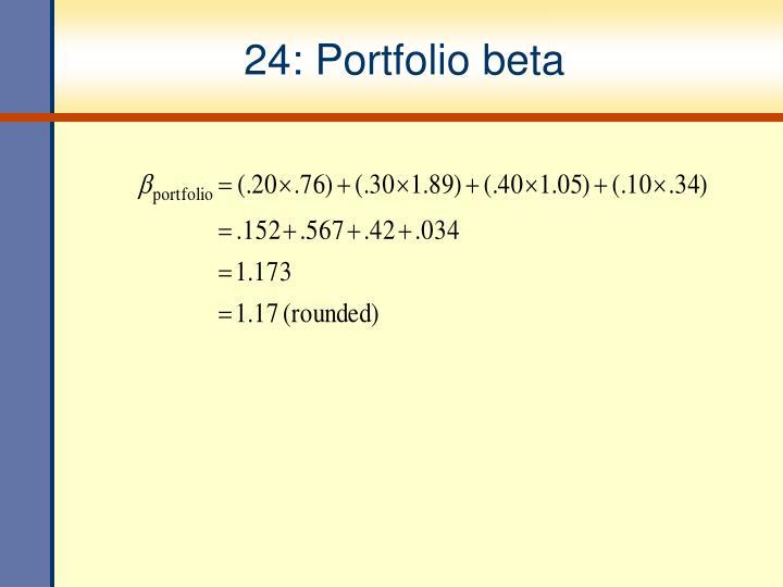24: Portfolio beta