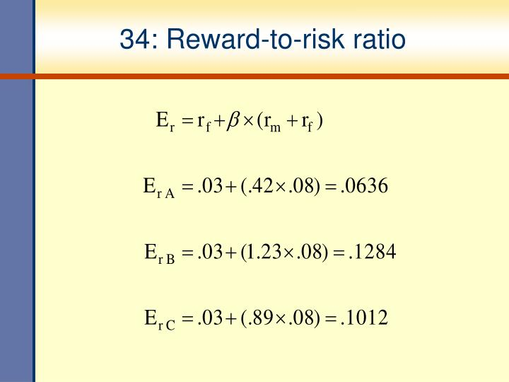 34: Reward-to-risk ratio