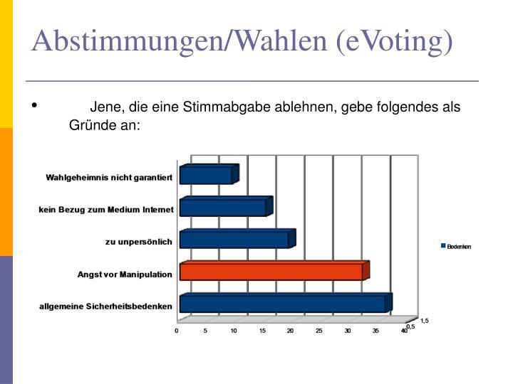 Abstimmungen/Wahlen (eVoting)