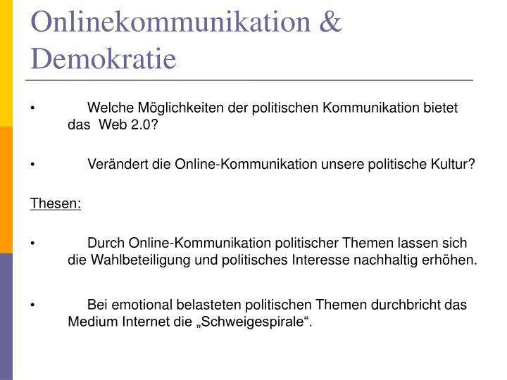 Onlinekommunikation & Demokratie