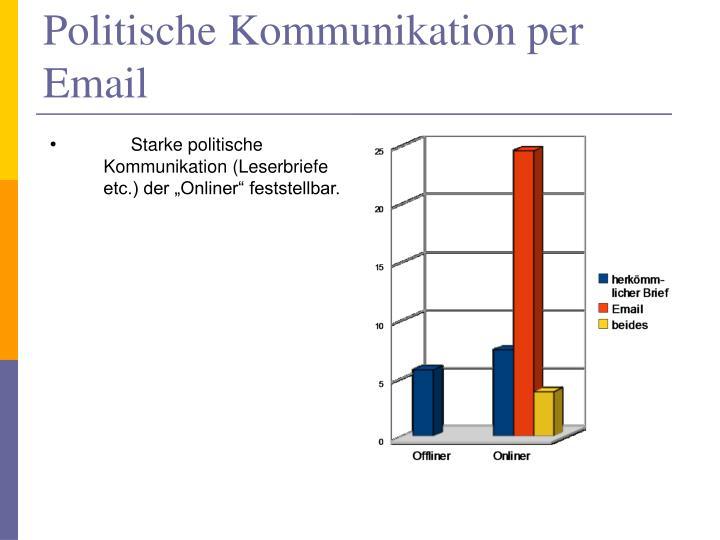 Politische Kommunikation per Email