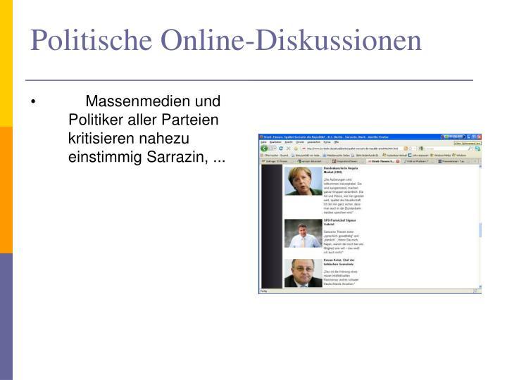 Politische Online-Diskussionen