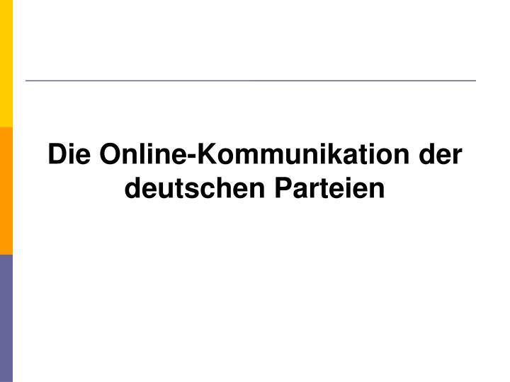 Die Online-Kommunikation der deutschen Parteien