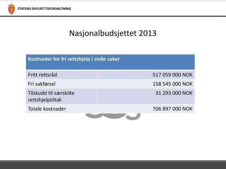 Nasjonalbudsjettet 2013