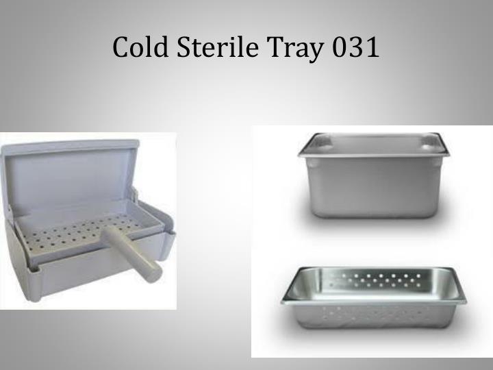 Cold Sterile Tray 031