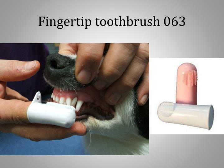 Fingertip toothbrush 063