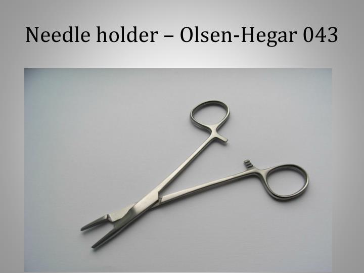Needle holder – Olsen-