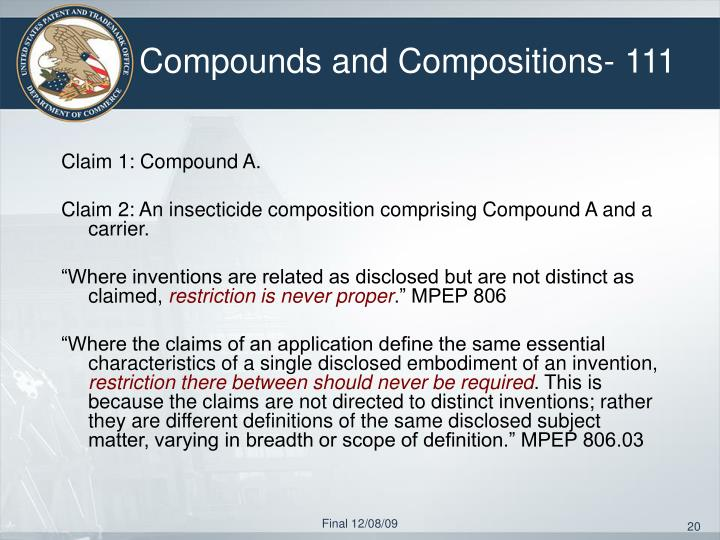 Compounds and Compositions- 111