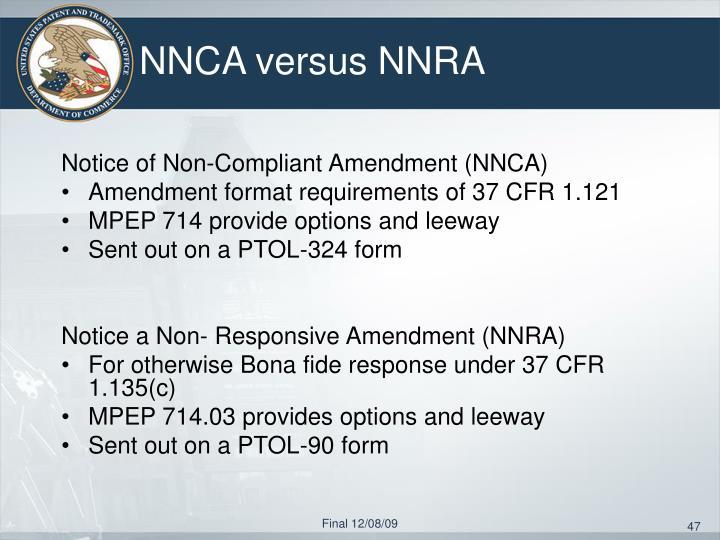 NNCA versus NNRA
