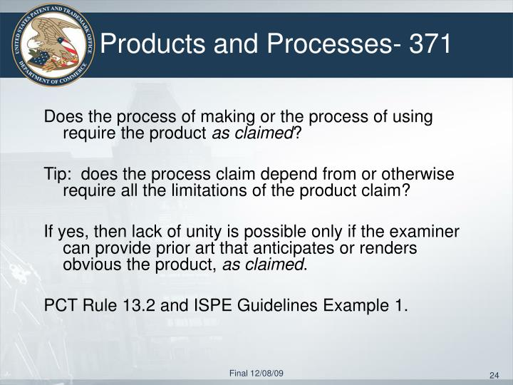 Products and Processes- 371
