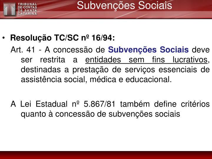 Subvenções Sociais