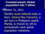 crowded planet global population hits 7 billion