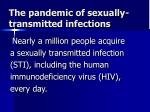 the pandemic of sexually transmitted infections