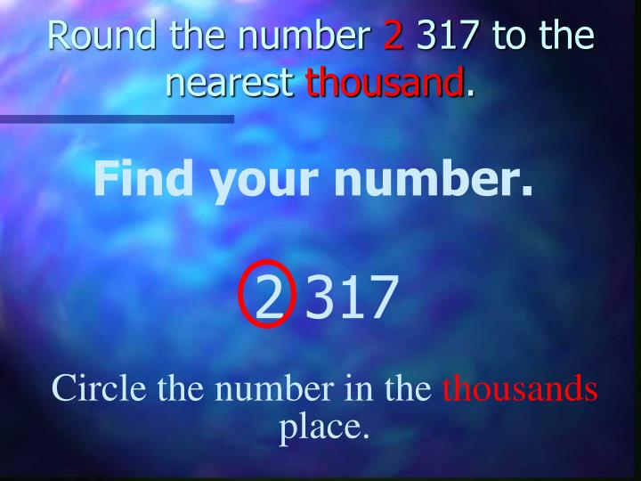Round the number
