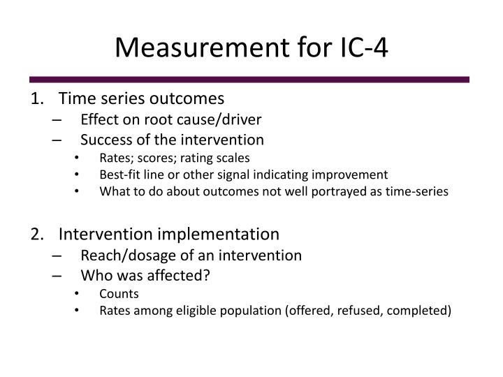 Measurement for ic 4