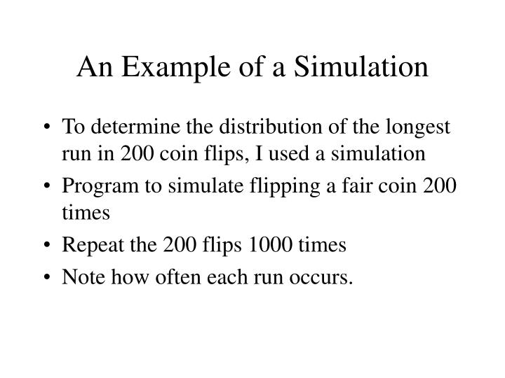 An Example of a Simulation