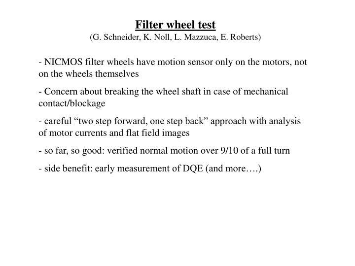 Filter wheel test