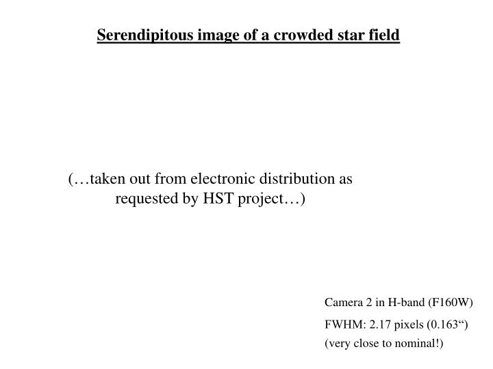Serendipitous image of a crowded star field