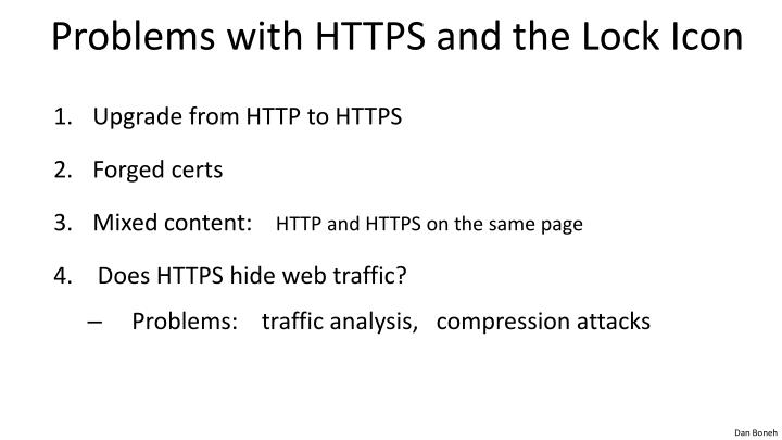 Problems with HTTPS and the Lock Icon