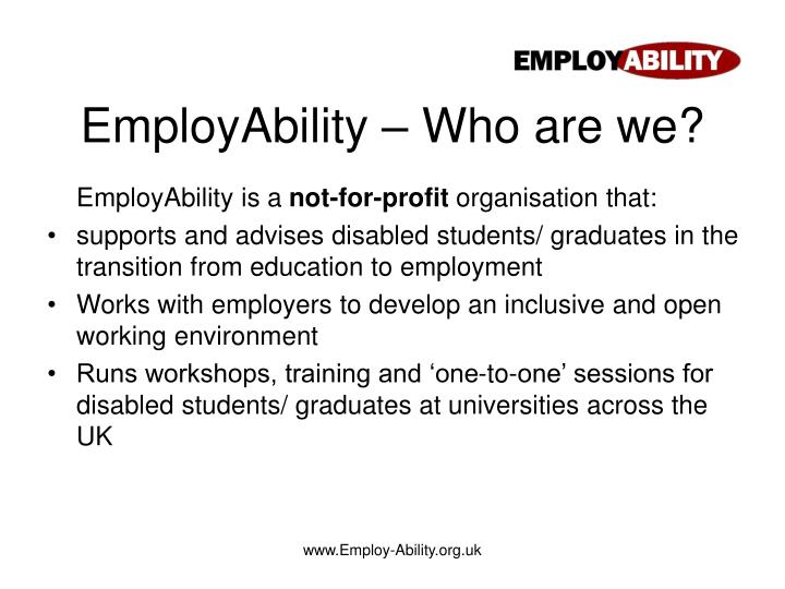 Employability who are we