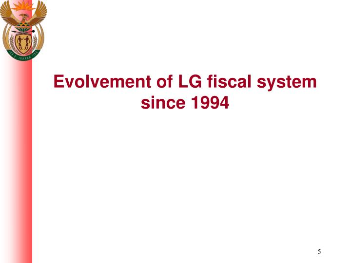 Evolvement of LG fiscal system since 1994